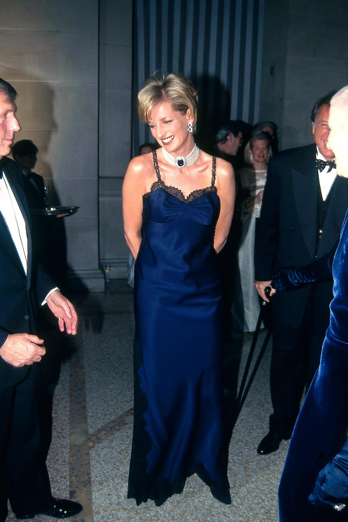 NEW YORK, NY - JANUARY 01: Princess Diana attends Met Gala at Metropolitan Museum of Art on January ...