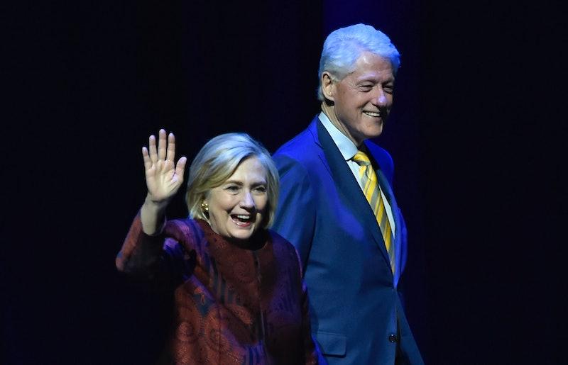 LAS VEGAS, NEVADA - MAY 05:  Former U.S. Secretary of State Hillary Rodham Clinton (L) and her husba...