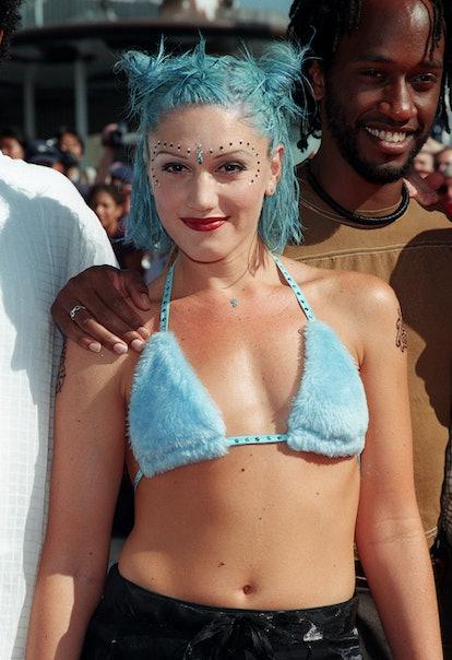 Gwen Stefani's blue space buns stood out at the VMAs.