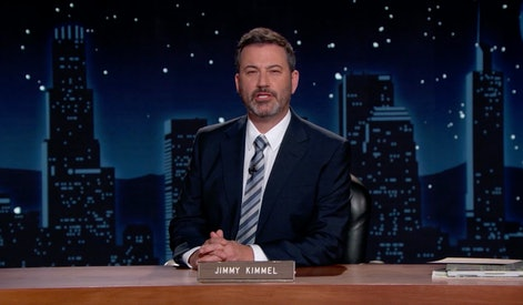 UNSPECIFIED - NOVEMBER 19: In this screengrab, Jimmy Kimmel speaks during the 2020 Media Access Awar...