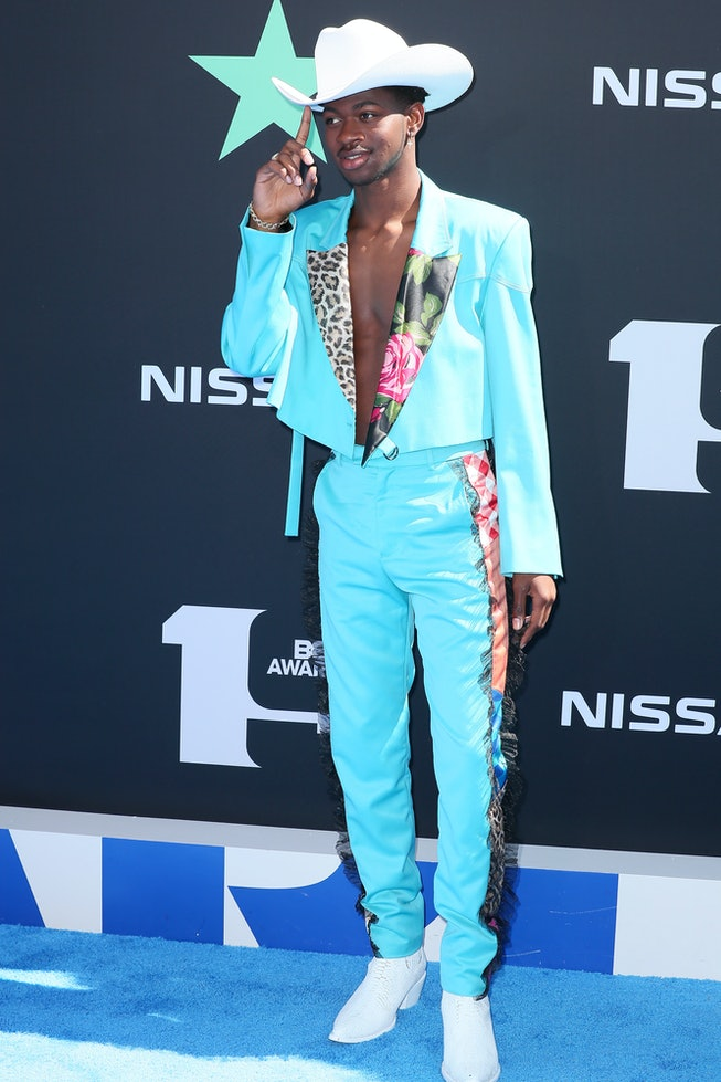 LOS ANGELES, CALIFORNIA - JUNE 23: Lil Nas X attends the 2019 BET Awards on June 23, 2019 in Los Ang...