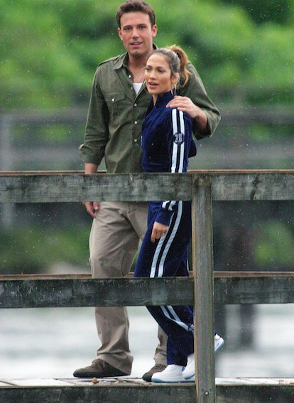 Bennifer looked comfy on vacation in Vancouver in 2003.