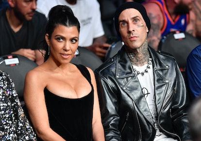 Dress as celebrity couple Kourtney Kardashian and Travis Barker for Halloween