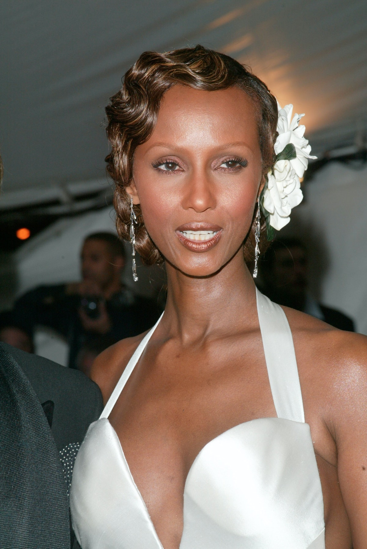 NEW YORK - APRIL 28:  (US TABS AND HOLLYWOOD REPORTER OUT) Model Iman arrives at the Metropolitan Mu...