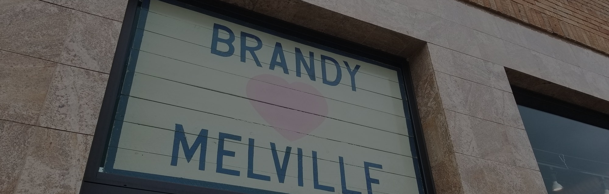 Low-angle view of the Brandy Melville boutique clothing store in Walnut Creek, California, December ...
