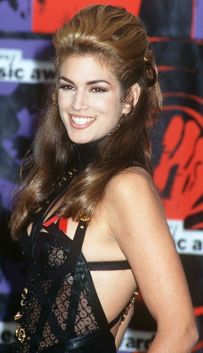 Cindy Crawford's bouffant hairstyle at the VMAs was supermodel-worthy.