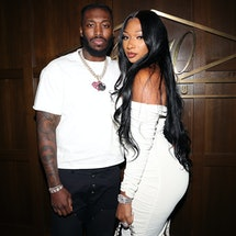 Megan Thee Stallion and her boyfriend, rapper Pardison Fontaine.