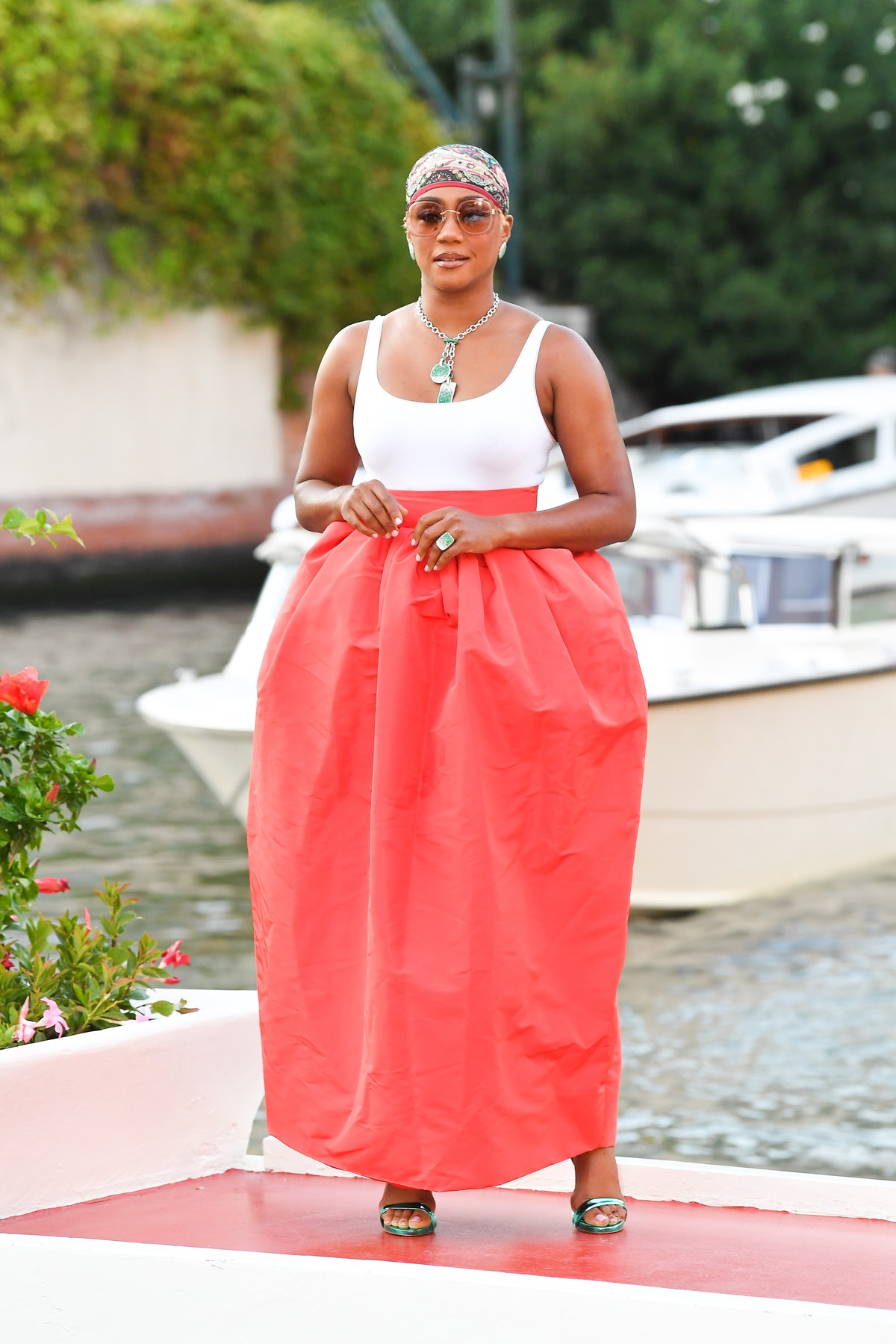 Tiffany Haddish is seen arriving at the 78th Venice International Film Festival in Venice, Italy in ...