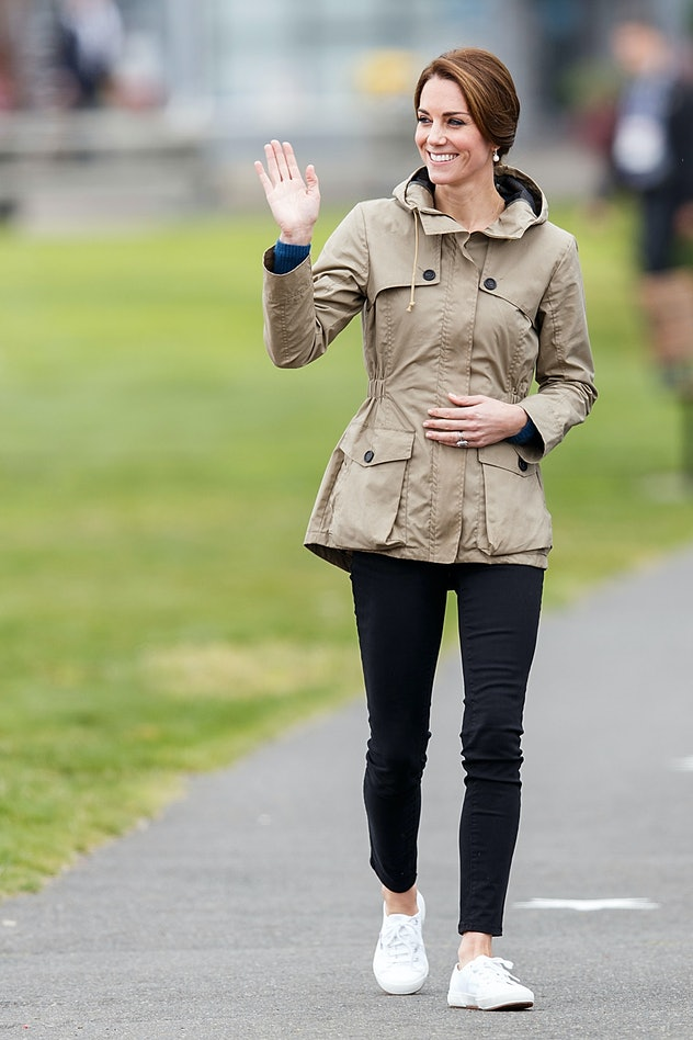 Kate Middleton wore sneakers while touring Canada.