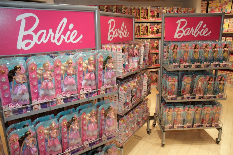 A Barbie retail display inside Toys R Us, Times Square. (Photo by: Jeffrey Greenberg/Universal Image...