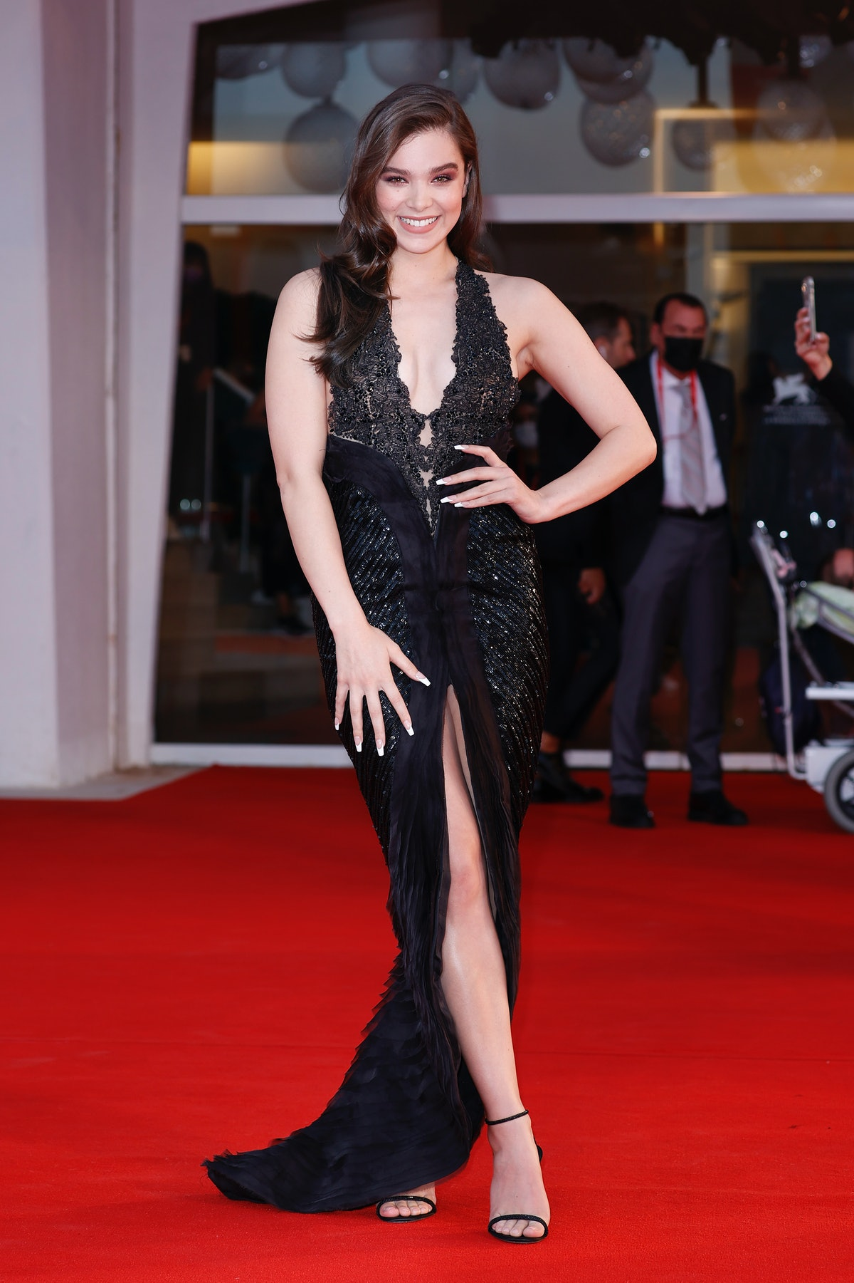 """Hailee Steinfeld attends the red carpet of the movie """"Competencia Oficial"""" during the 78th Venice In..."""