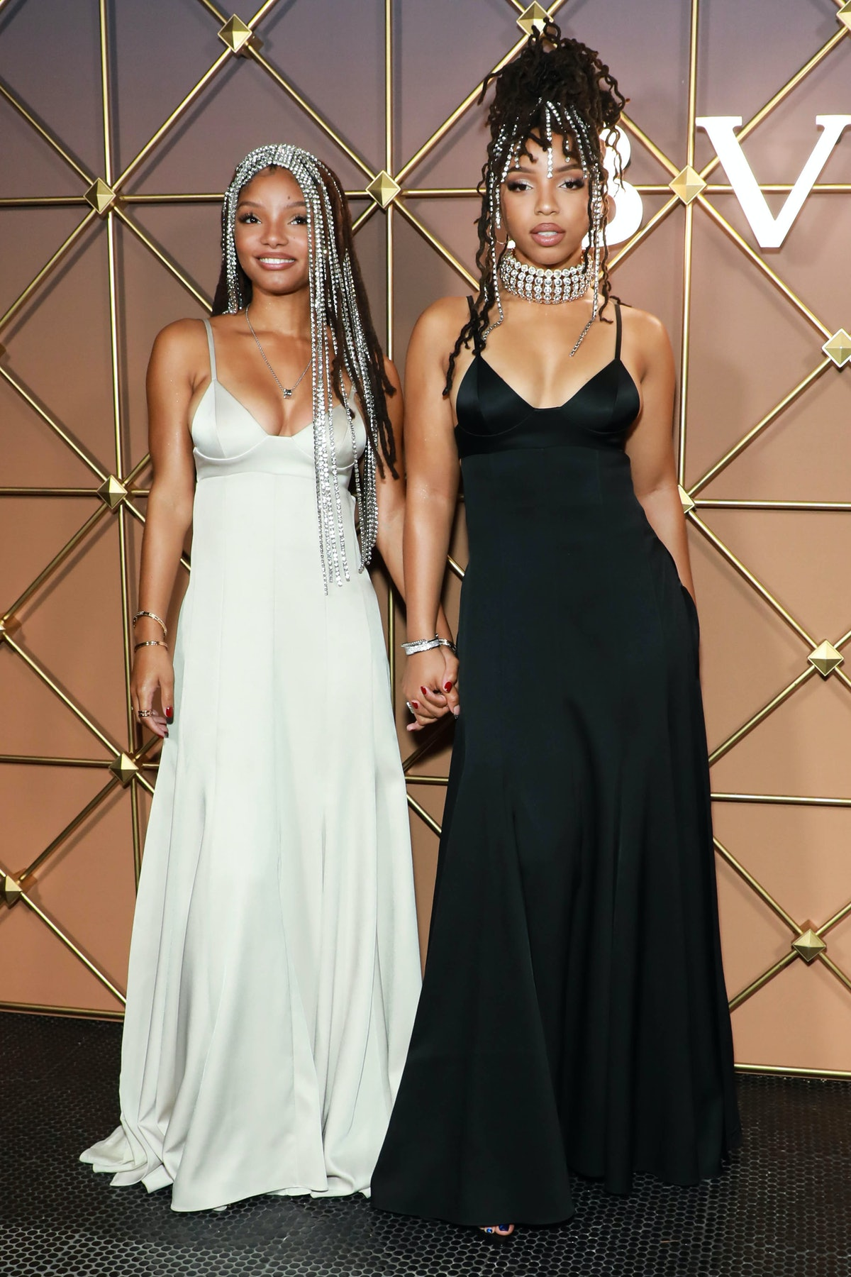 Halle Bailey and Chloe Bailey attend Bulgari B.Zero1 at New York Fashion Week: The Shows in New York...