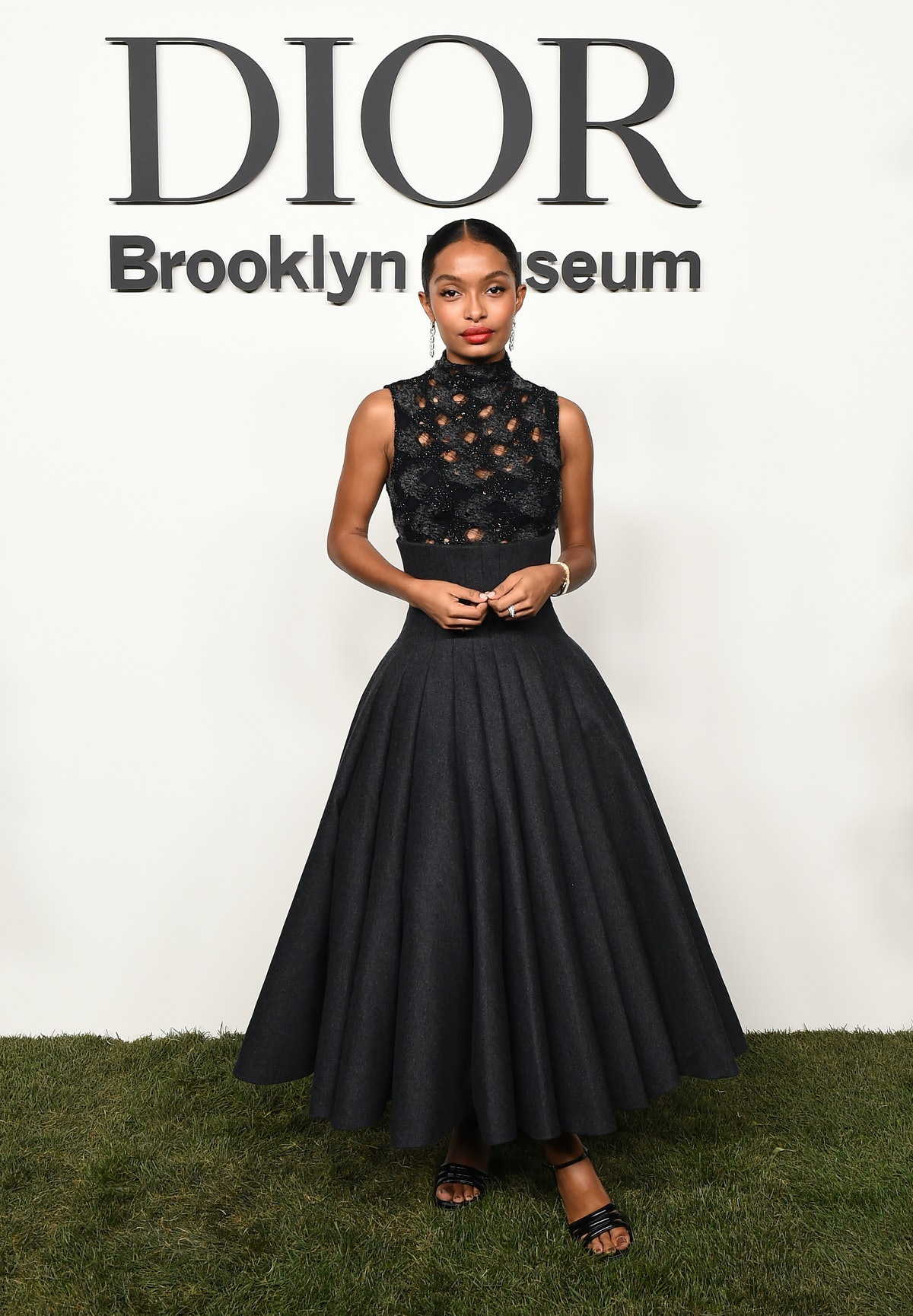Yara Shahidi attends the Christian Dior Designer of Dreams Exhibition cocktail opening at the Brookl...