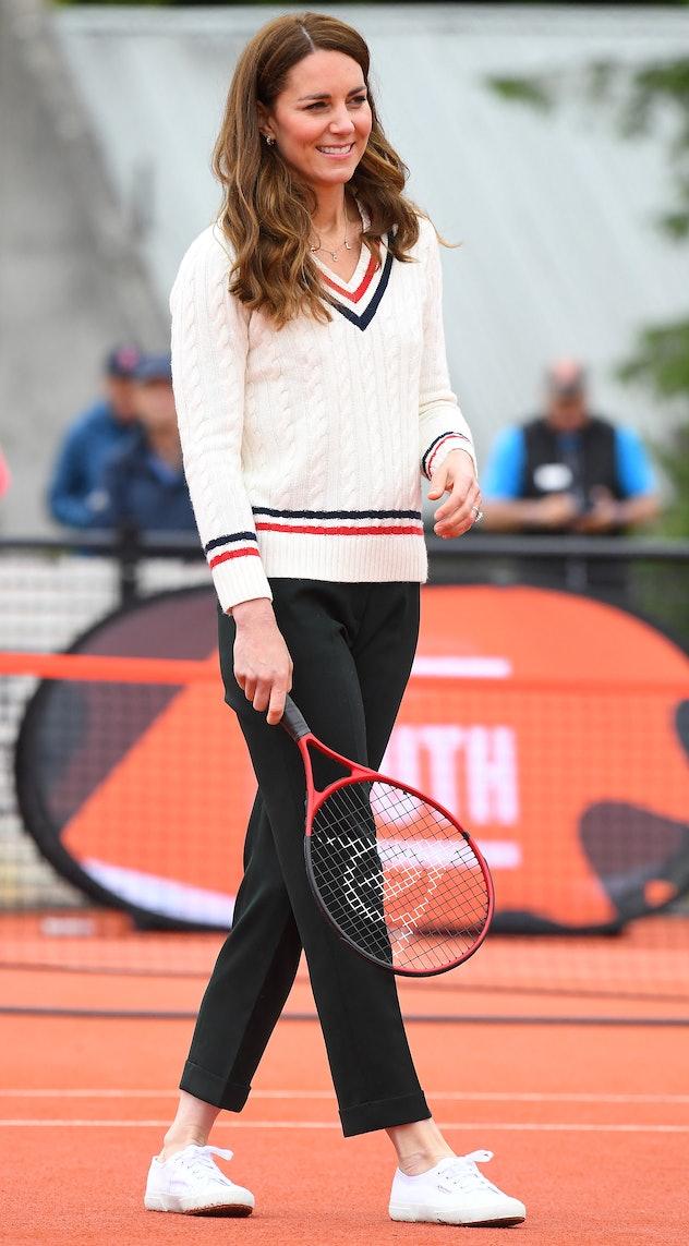 Kate Middleton wears a tennis ready look.