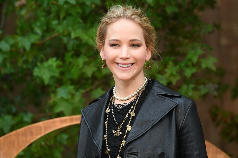PARIS, FRANCE - SEPTEMBER 24: Jennifer Lawrence attends the Christian Dior Womenswear Spring/Summer ...