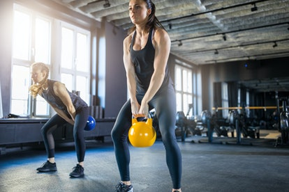 Kettlebell swings are a great glute exercise for runners.