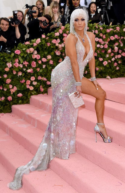 Jennifer Lopez's Met Gala looks are legendary, from her lace dress in 2004 to her naked dress in 201...