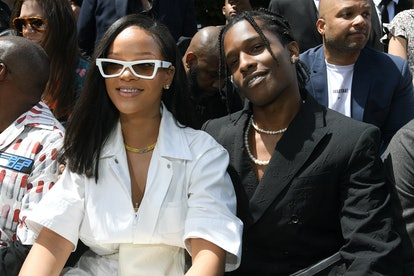 PARIS, FRANCE - JUNE 21: Rihanna and A$AP Rocky attend the Louis Vuitton Menswear Spring/Summer 2019...