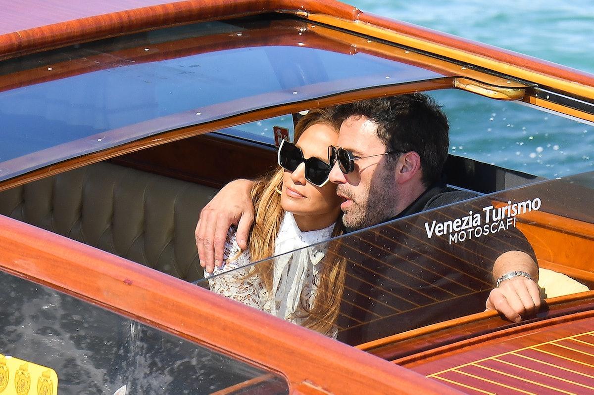 VENICE, ITALY - SEPTEMBER 09: Jennifer Lopez and Ben Affleck arrive at the 78th Venice International...