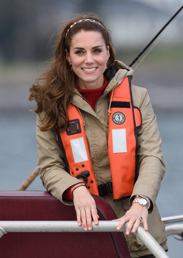 Kate Middleton goes fishing.
