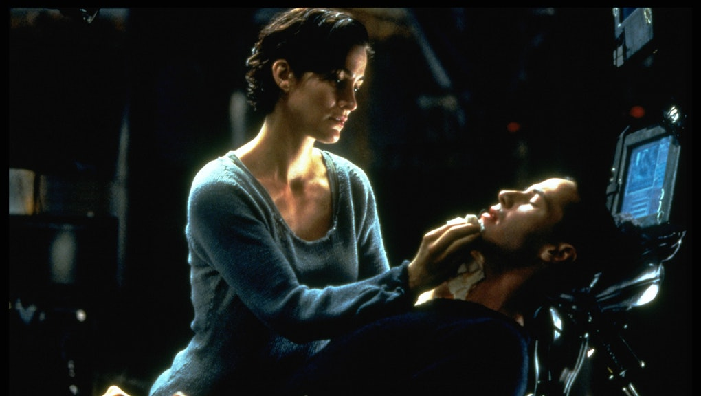 Carrie-Anne Moss and Keanu Reeves in The Matrix (Photo by Ronald Siemoneit/Sygma/Sygma via Getty Ima...