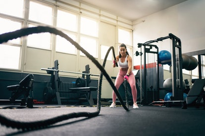 How to use gym equipment for beginners — including battle ropes.