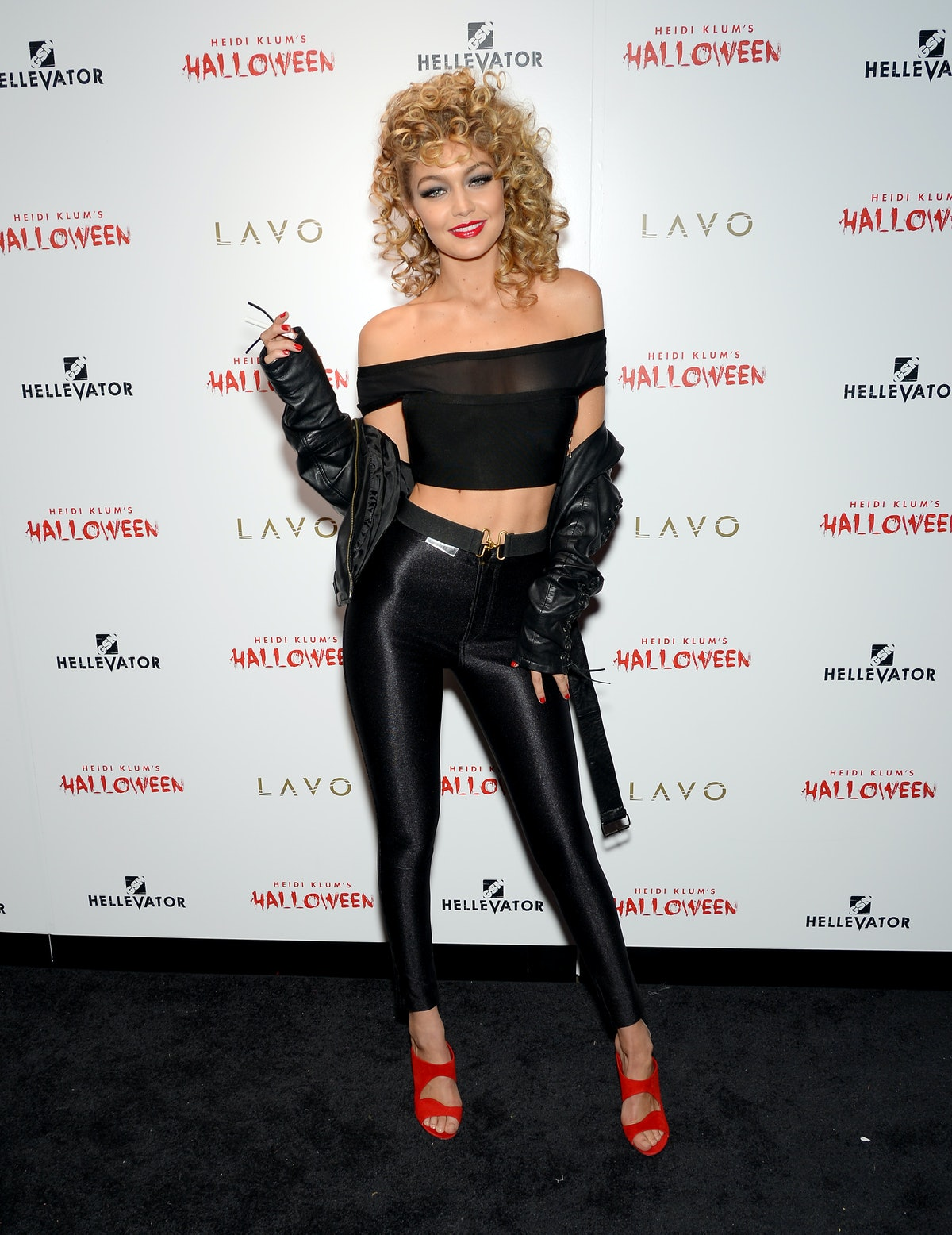 Halloween costume idea for blondes: Gigi Hadid as Sandy from 'Grease'