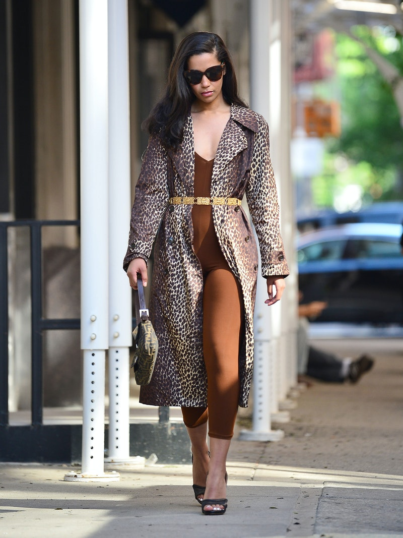 NEW YORK - JUNE 14:  Alana Monteiro is seen on a photoshoot on June 14, 2021 in New York City.  (Pho...
