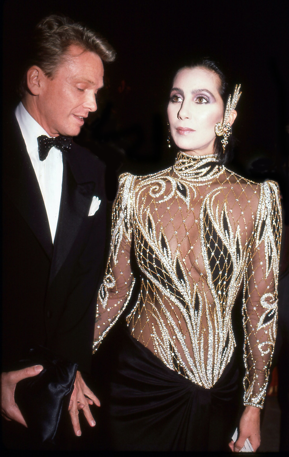 Designer Bob Mackie and the singer and actress Cher attend the Costume Institute Gala at the Metropo...