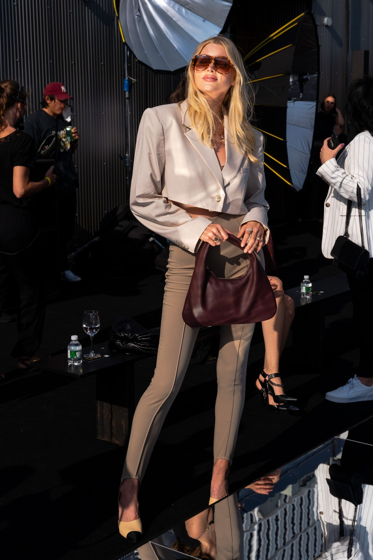 Elsa Hosk attends the DUNDAS x REVOLVE NYFW Runway Show at Casa Cipriani in New York City in Septemb...
