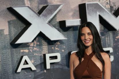 Olivia Munn arrives for the premiere of 'X-Men: Apocalypse' in London.