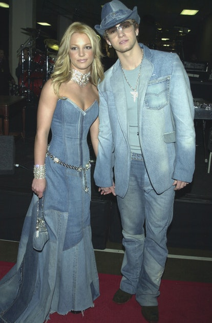 Recreate Britney Spears and Justin Timberlake's iconic double-denim moment for Halloween