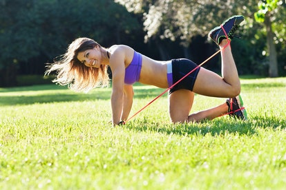 How to do a weight kickback to strengthen your glutes.