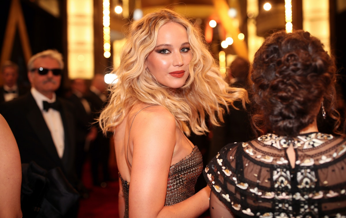 Jennifer Lawrence, who is a celebrity with a relatable quote about being single, is seen attended th...
