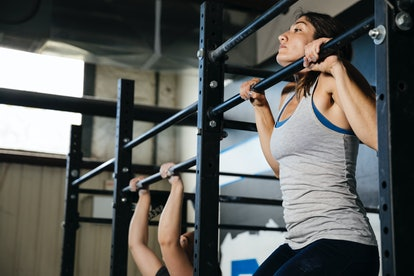 How to use the pull-up bar at the gym.