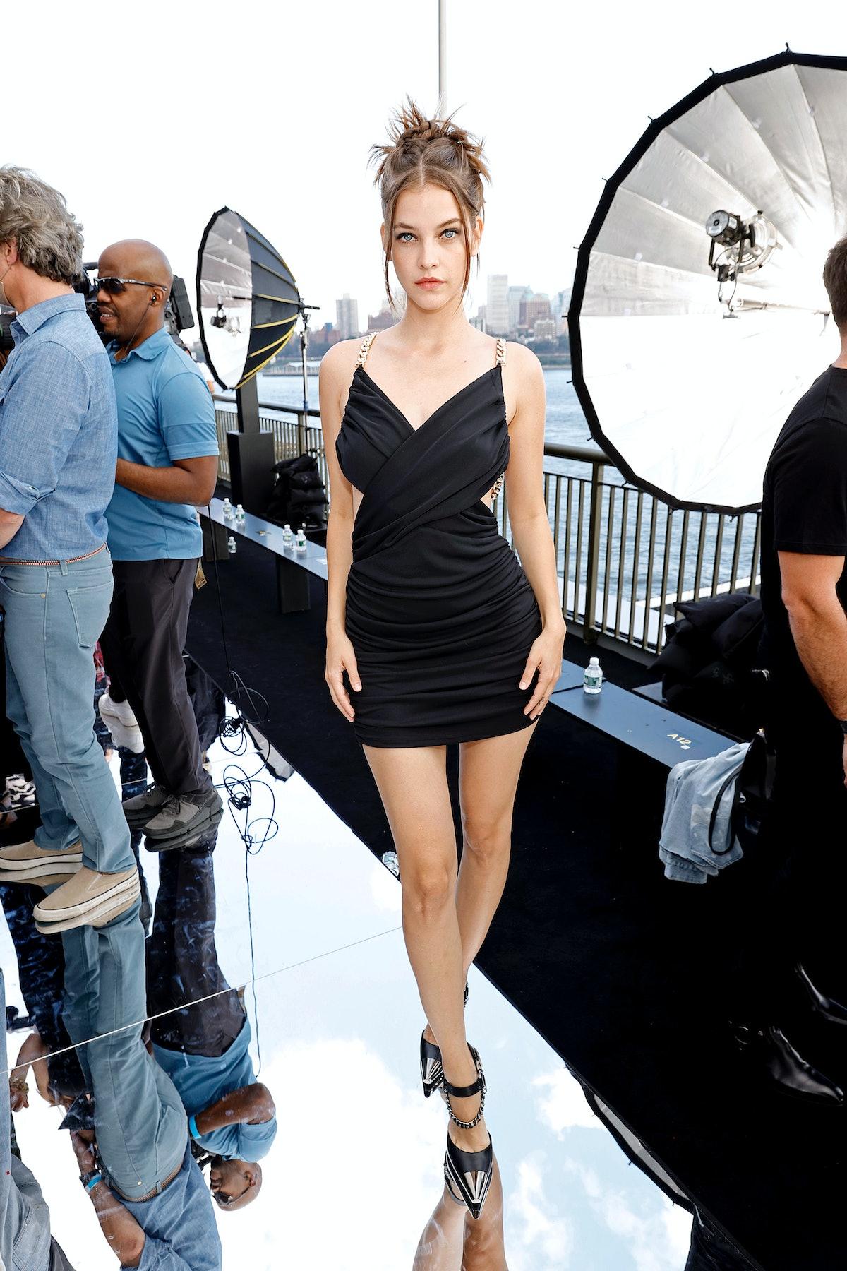 Barbara Palvin attends DUNDAS x REVOLVE NYFW Runway Show Casa Cipriani in New York City in September...