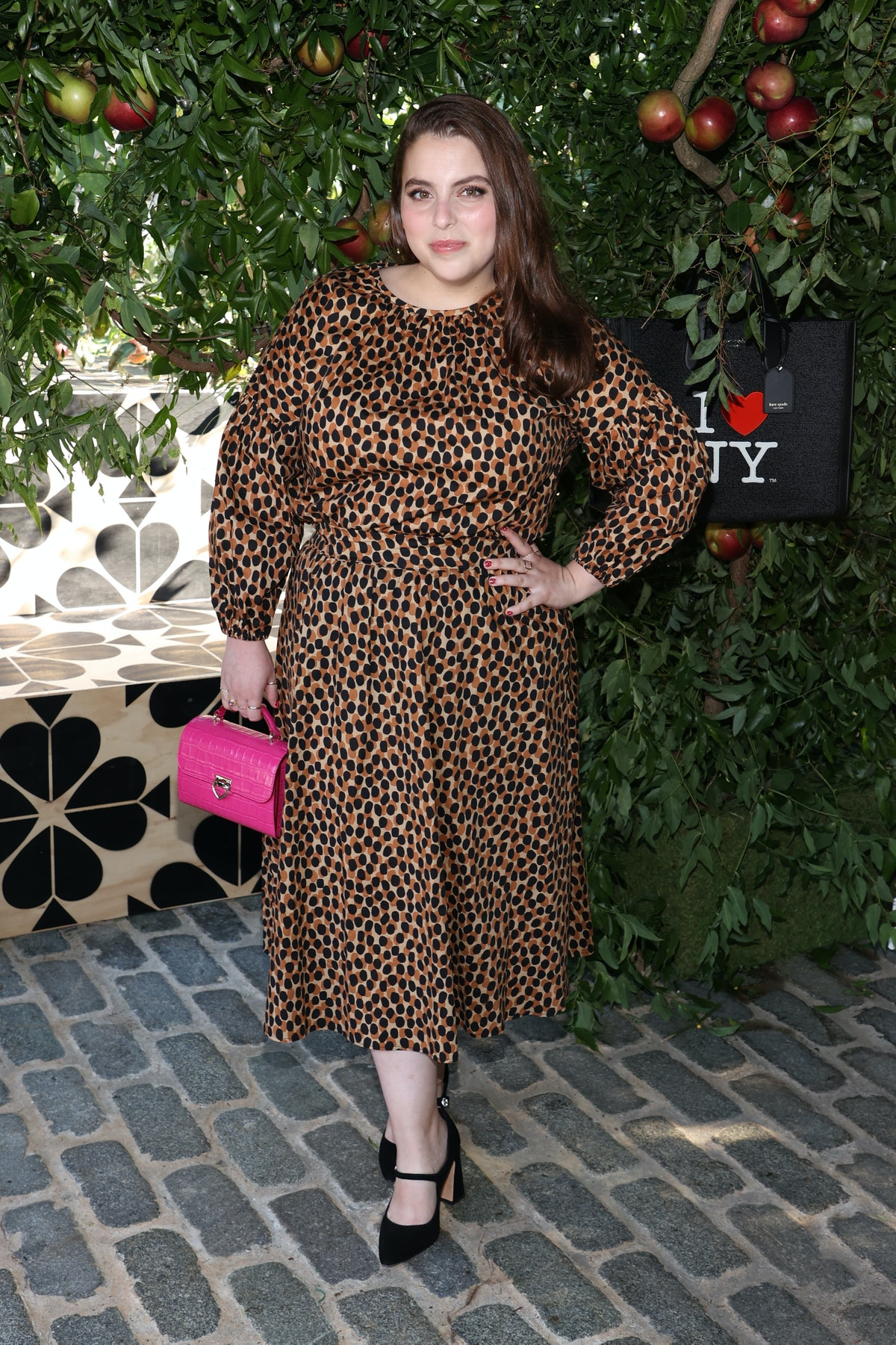 Beanie Feldstein is seen during the Kate Spade New York Popup Installation VIP Opening Party for NYF...