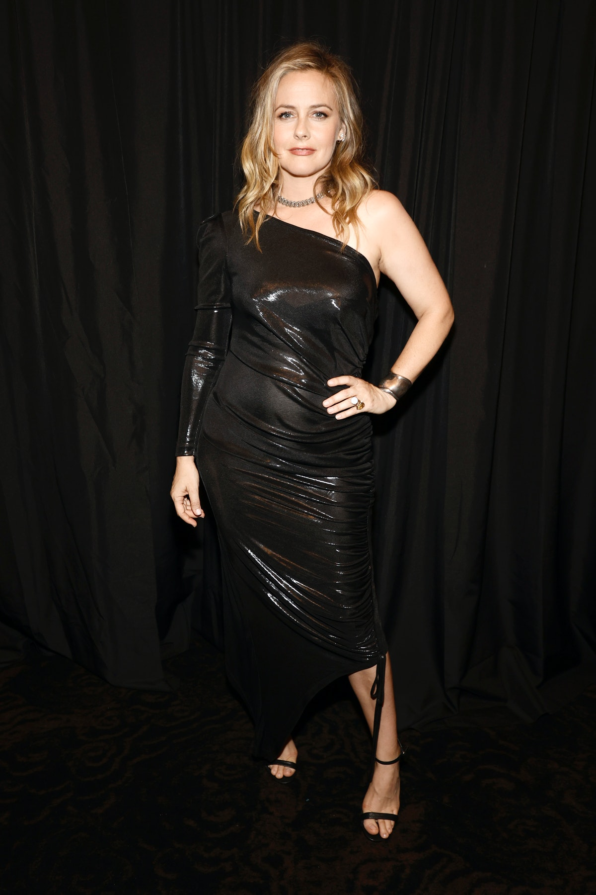 Alicia Silverstone is seen outside the Christian Siriano fashion show in New York City in September ...