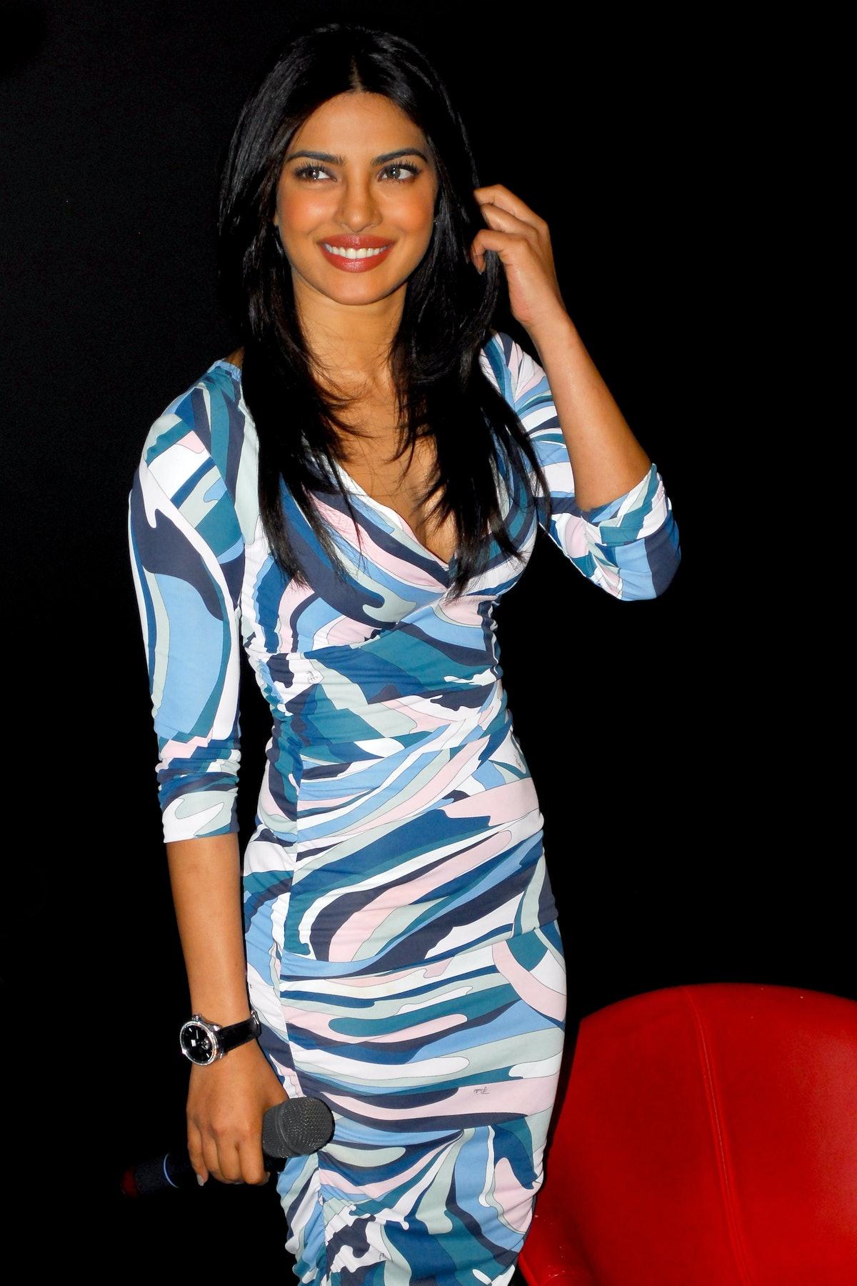MUMBAI, INDIA - DECEMBER 23: Priyanka Chopra attends the trailer launch of the movie 'Agneepath' on ...