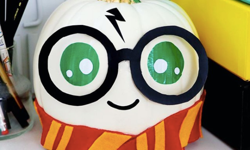 these harry potter pumpkins are the cutest diy halloween decorations youll see all year