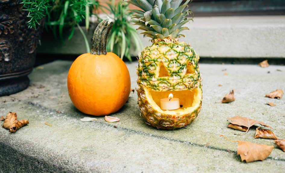 Diy halloween carving ideas for non pumpkin fruits that
