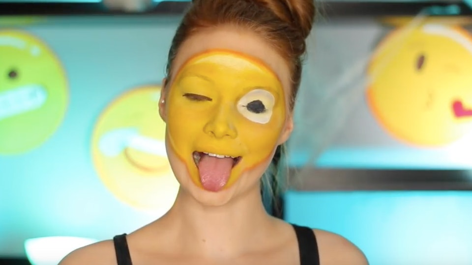 8 emoji face paint tutorials to really express yourself this halloween solutioingenieria Image collections