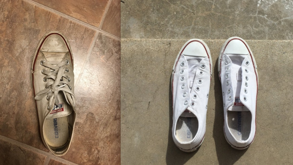 898692ee10 How Do You Clean White Shoes  This Viral Post Has The Answer