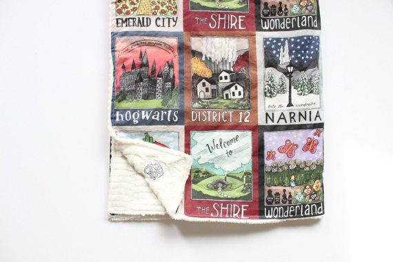 11 cozy book themed blankets perfect for snuggling up with a good read literary travel posters blanket sweet sequels on etsy gumiabroncs Gallery