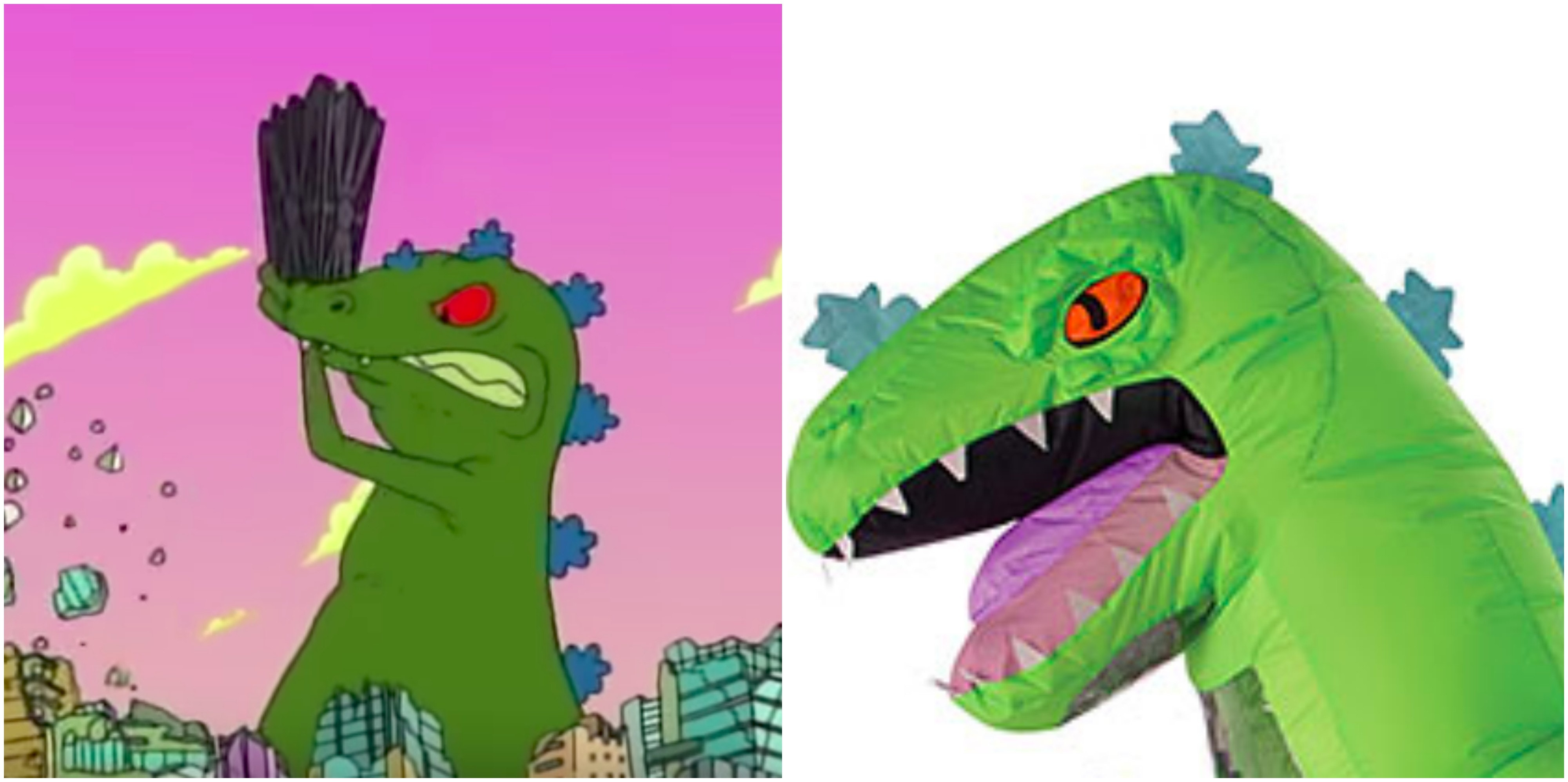 Adult Rugrats Inflatable Reptar Dinosaur Costume