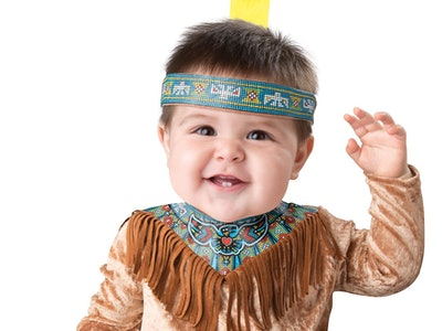 baby in native American racist sexist mean Halloween costume