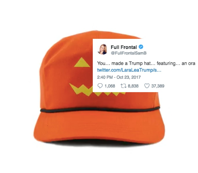 e19205f9baf17 People Are Trolling The Pumpkin MAGA Hats On Twitter With The Best Trumpkin  Jokes