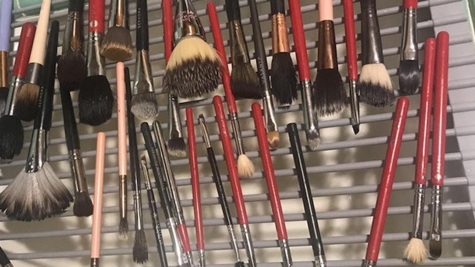 This Makeup Brush Drying Rack Hack Is Seriously Genius