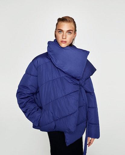Zara Asymmetric Quilted Jacket