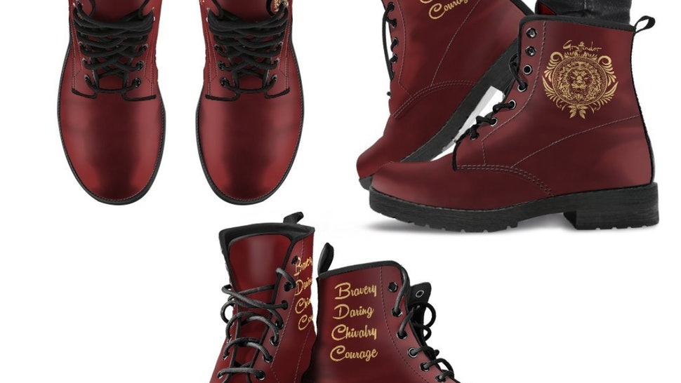 640cba2ed80d Where To Buy Harry Potter Hogwarts Combat Boots Because These Are The  Coolest Shoes Around